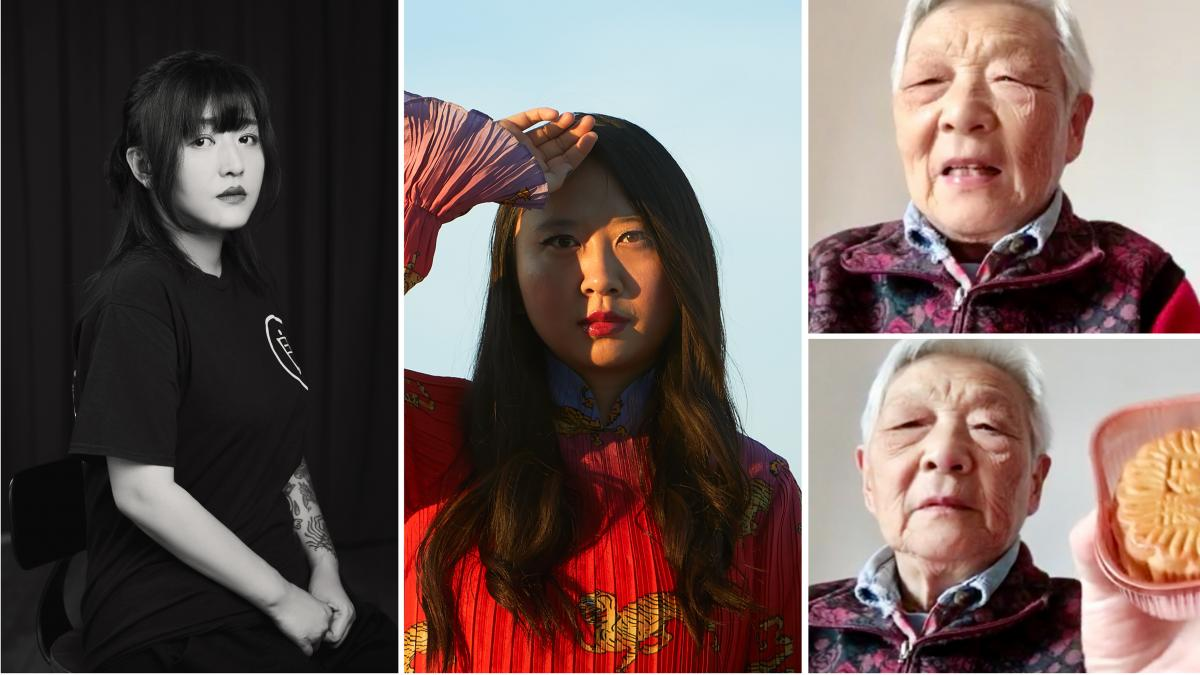 From left: Deng Ge is a rap mogul who became a lockdown activist. Poet Sally Wen Mao Mao uses her art to express her anger about how Chinese people are being portrayed in the pandemic. Writer and comic artist Laura Gao, living in the U.S., has a video cha