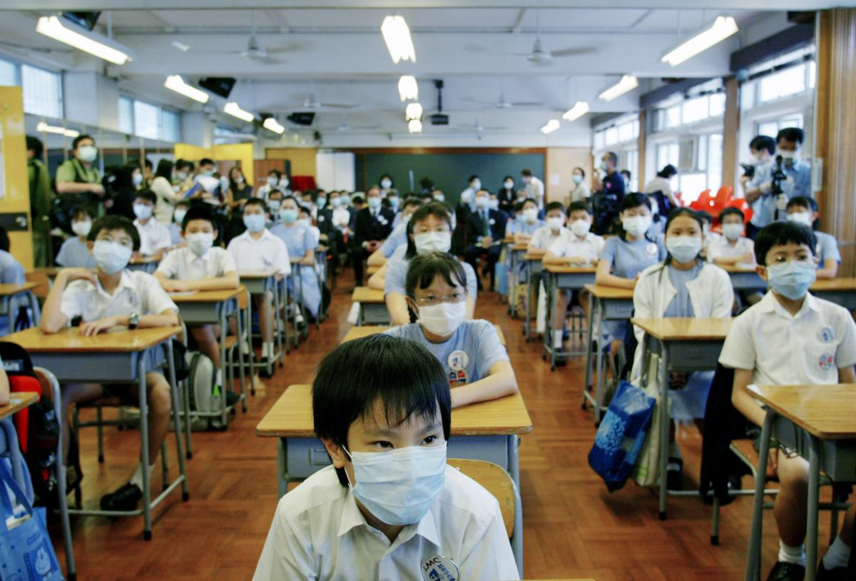 School was suspended for six weeks in Hong Kong as part of the strategy to keep SARS from spreading. On May 12, 2003, primary school children returned to class amid signs that the outbreak was coming under control.