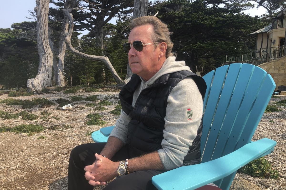Jack Grandcolas, who lost his pregnant wife on United Flight 93, sits near his home in Pebble Beach, Calif. Twenty years after Sept. 11, he is still working through his loss.