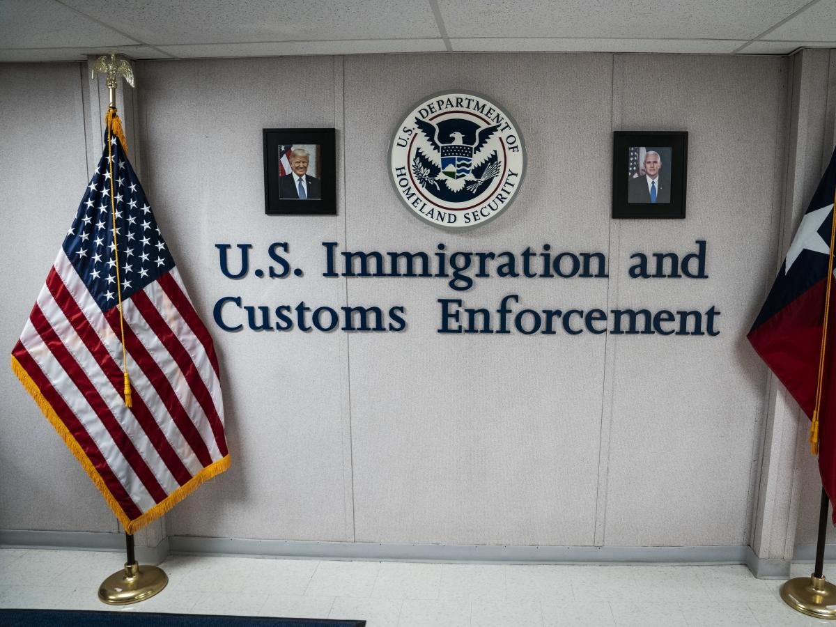 U.S. Immigration and Customs Enforcement.