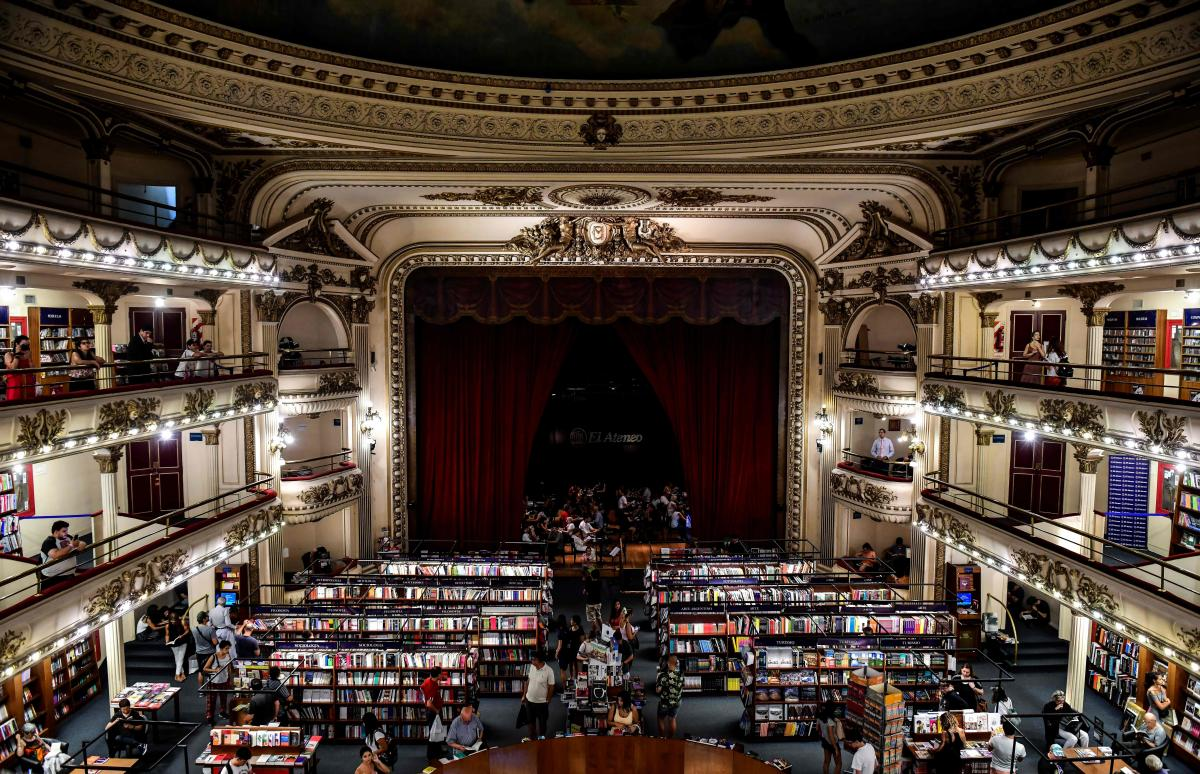 "When the Gran Splendid Theater in Buenos Aires was converted into a branch of the Ateneo bookstore, the stage became a cafe. It was just named ""the world's most beautiful bookstore"" by National Geographic."