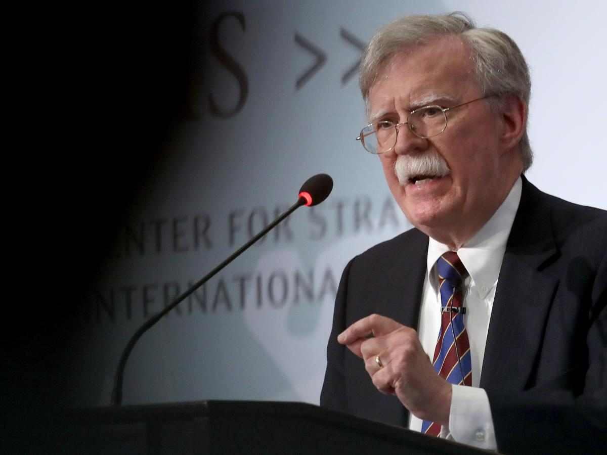 Former U.S. national security adviser John Bolton speaks in September at the Center for Strategic and International Studies in Washington, D.C.