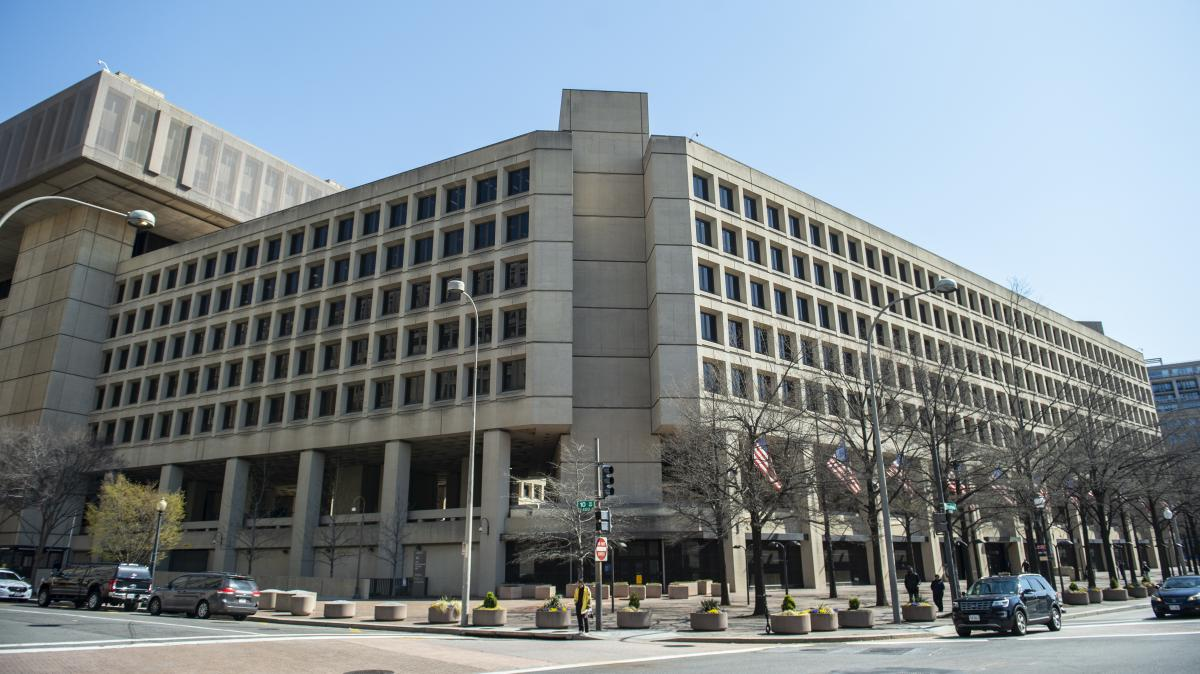 """The FBI building in downtown Washington, D.C. — Utah Sen. Mike Lee describes it as looking like """"an abandoned set from The Hunger Games."""""""