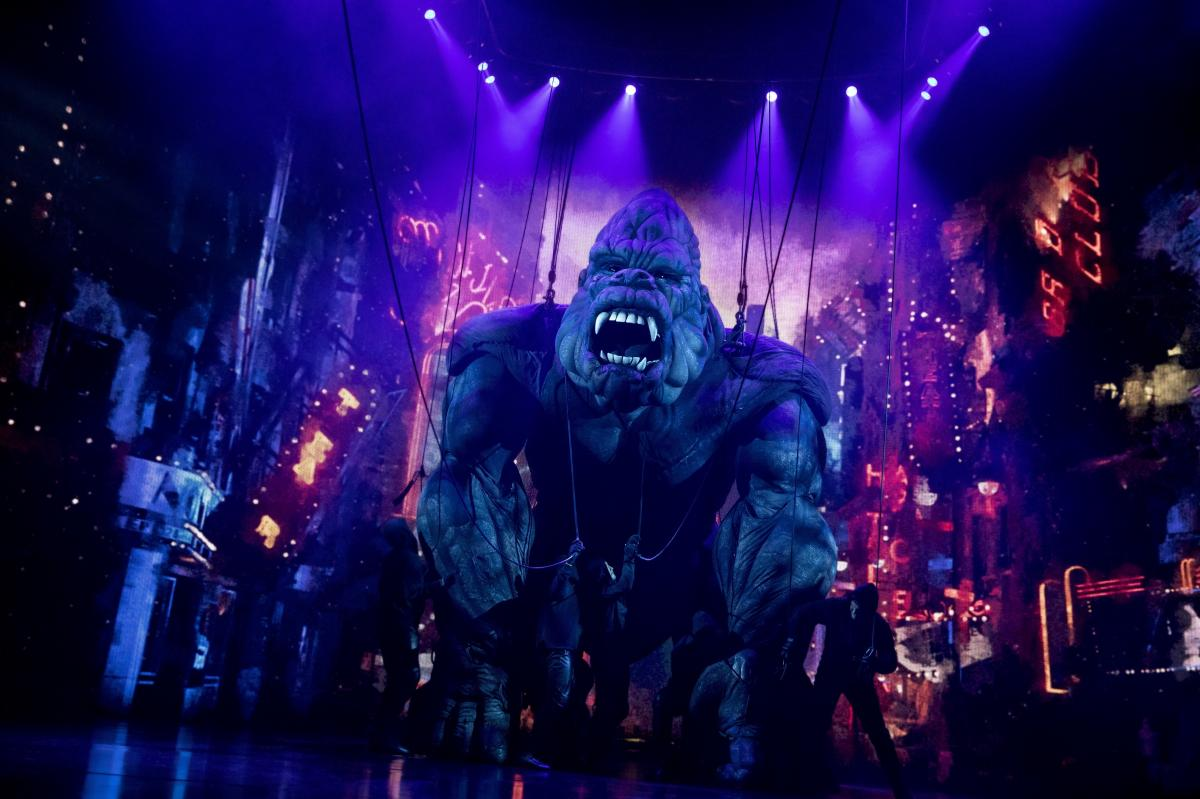 The new Broadway adaptation of King Kong features a giant puppet which requires 15 people to operate.