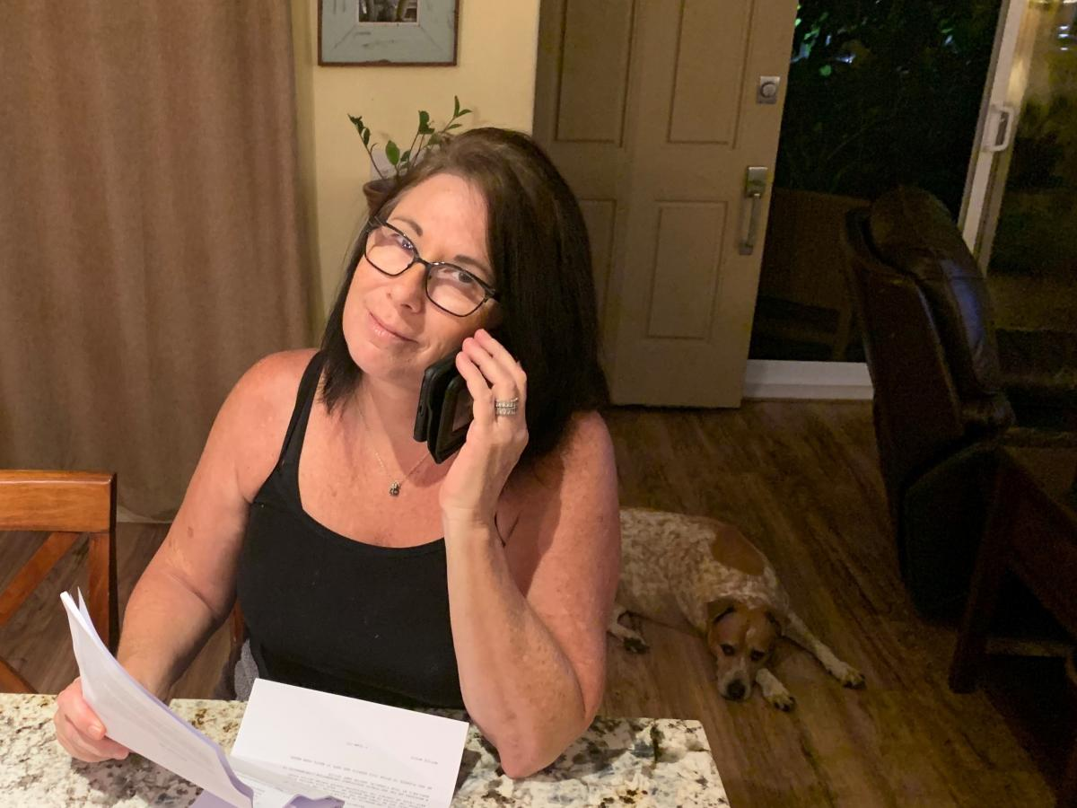"""Julia Hansen says her lender, Freedom Mortgage, told her that to get federally mandated help, she'd have to make an $8,000 payment in three months or """"go into foreclosure."""""""