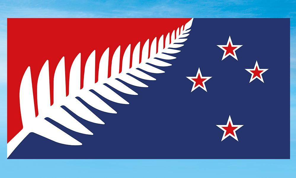 """The """"Silver Fern (Red, White and Blue)"""" design is nearly identical to the winning alternative design, and is by the same designer, Kyle Lockwood. The red represents """"heritage and sacrifices made,"""" he says."""