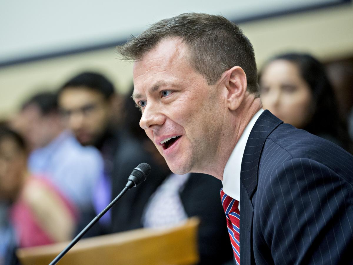 Peter Strzok, then an agent at the FBI, speaks during a joint House Judiciary, Oversight and Government Reform committees hearing in Washington, D.C., in July 2018.