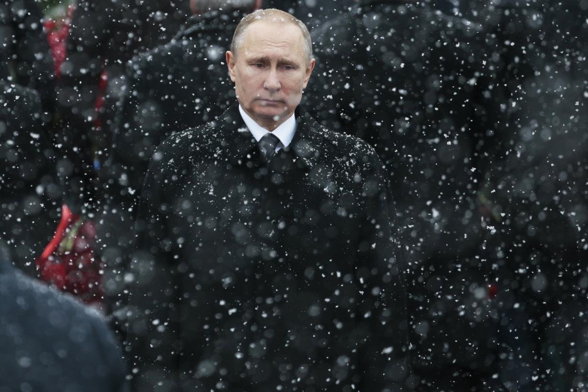 Russian President Vladimir Putin, here at the Tomb of the Unknown Soldier in Moscow in 2017, has seen U.S. relations reach their lowest point since the Cold War. By waiting over a month to congratulate President-elect Joe Biden, Putin tried to show streng