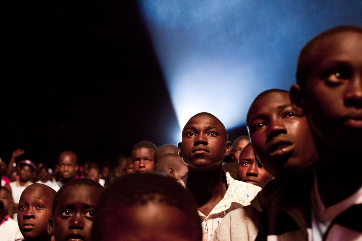 Fans wait for Senegal's biggest stars to perform at a free hip-hop festival, held in the capital city of Dakar.