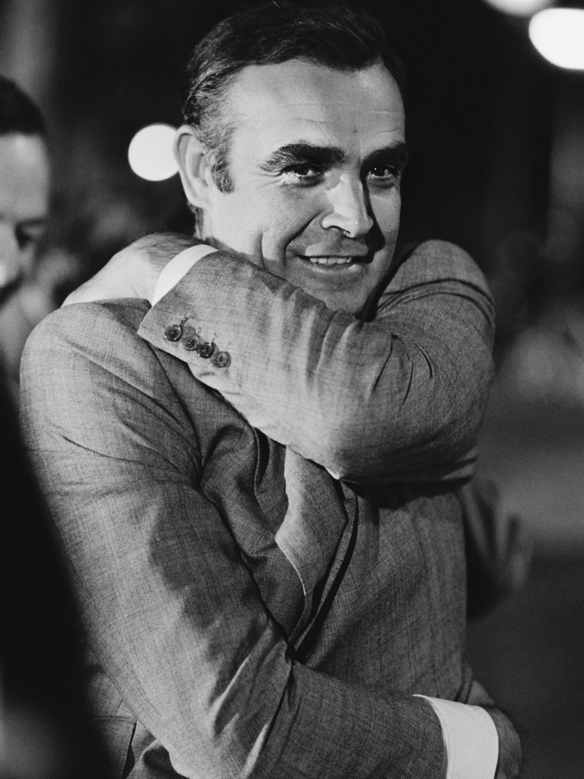 Sean Connery, pictured in Amsterdam during the 1971 filming of Diamonds Are Forever, played James Bond in seven movies.