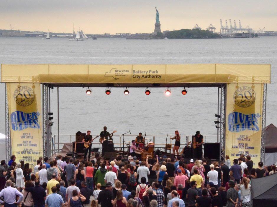 Low Cut Connie performs at Battery Park City River & Blues Festival.