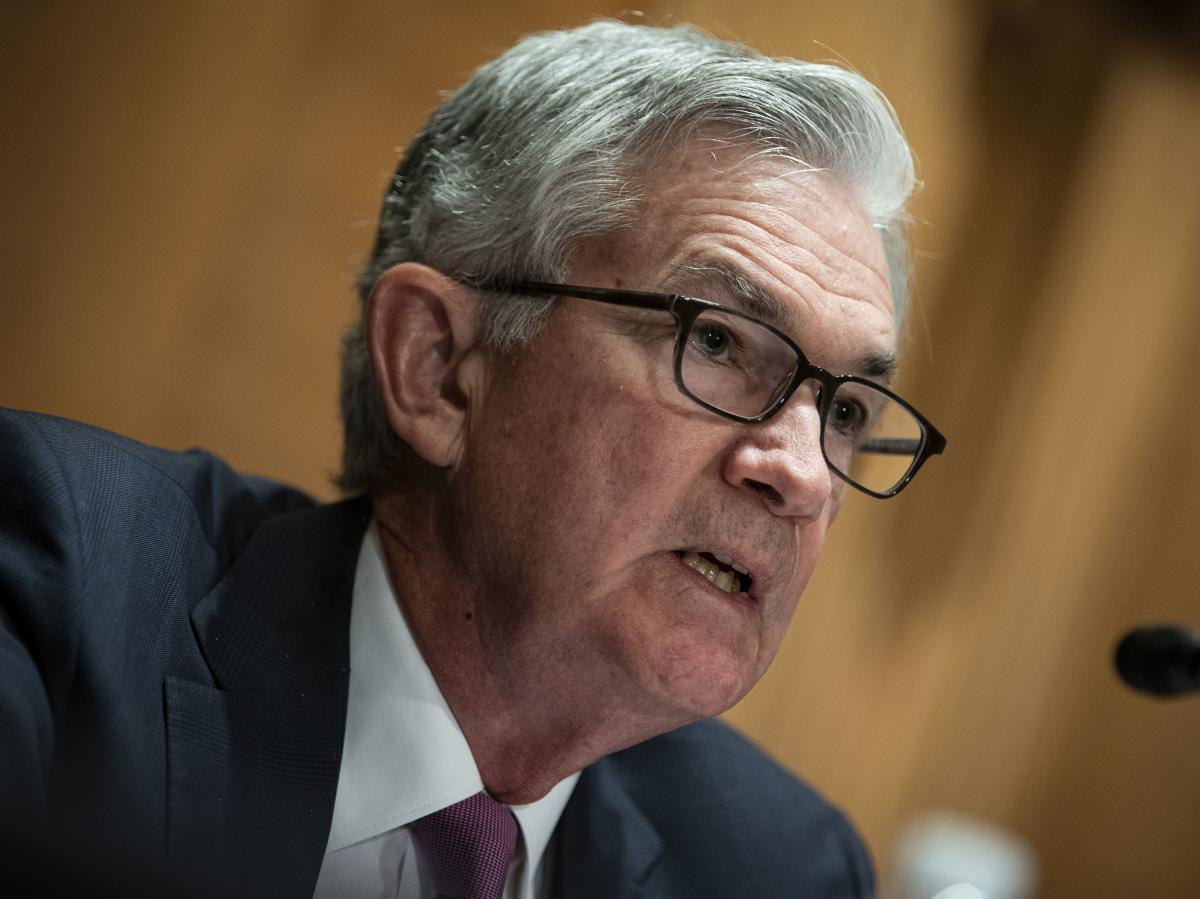 Federal Reserve Chairman Jerome Powell speaks during a Senate Banking Committee hearing in Washington, D.C., on July 15. The Fed issued new economic projections at the conclusion of its policy meeting on Wednesday.