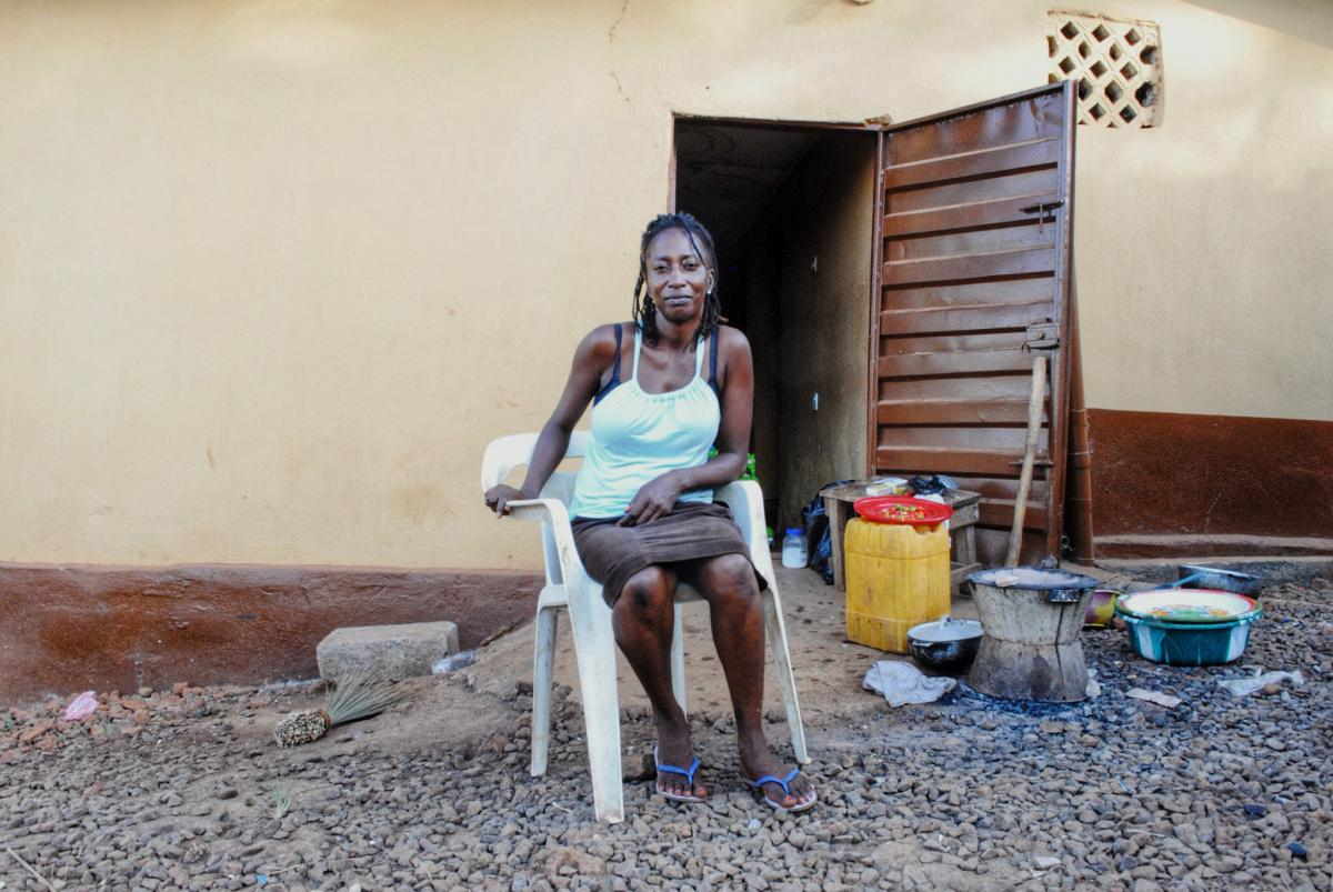 """""""They have forgotten us ... and many are still really suffering,"""" says Ebola survivor Haja Bah."""