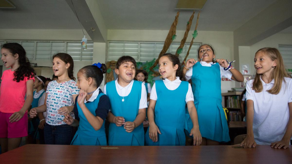 Children in the mountain town of Orocovis returned to school two weeks ago after a two-month pause following Hurricane Maria. The school doesn't have electricity, so it lets out at 12:30 p.m.