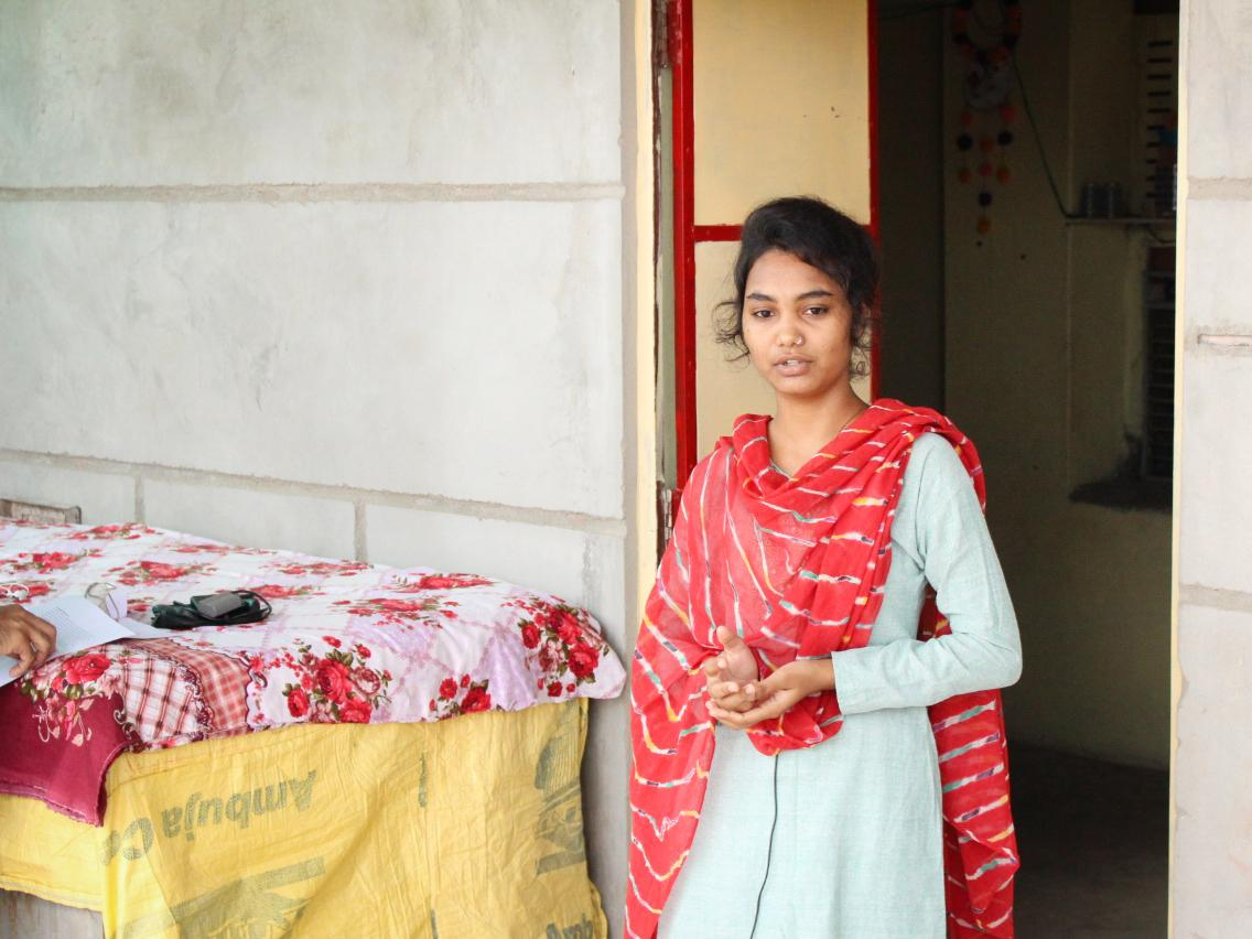 Komal Rana, 19, a student in the Veerni Institute program, has faced pressure to marry since India's pandemic lockdown forced her to return home to her hamlet of Jhalamand near Jodhpur.
