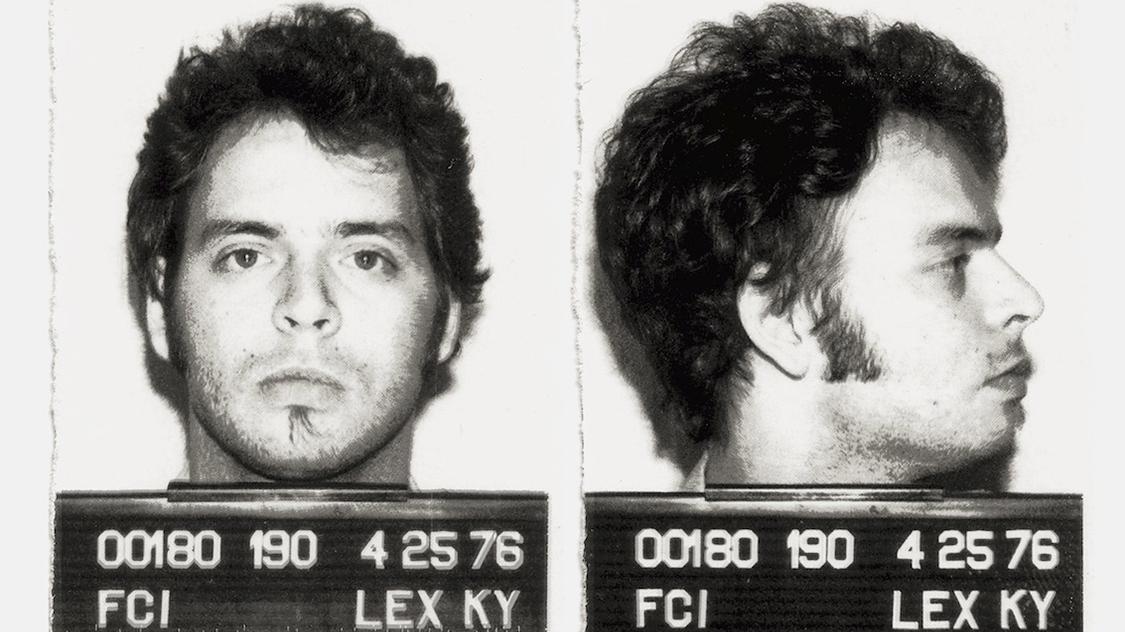 Wayne Kramer's mugshot, taken in 1976.