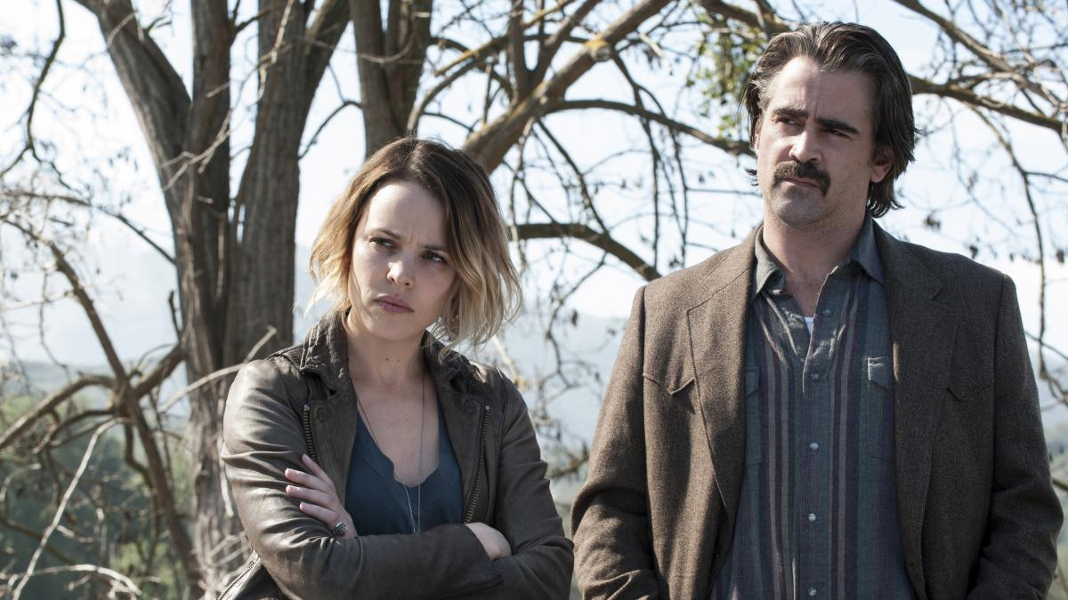 Rachel McAdams appears with Colin Farrell in HBO's new season of True Detective.