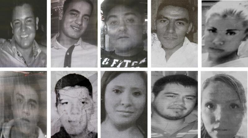 Images from posters made by relatives show 10 of the 12 young people kidnapped in broad daylight from a bar in Mexico City on May 26. No one has claimed responsibility for the brazen abduction.