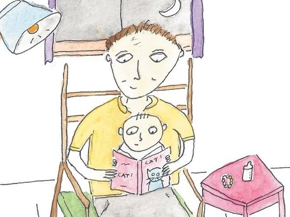 Book cover detail: Papadaddy's Book For New Fathers