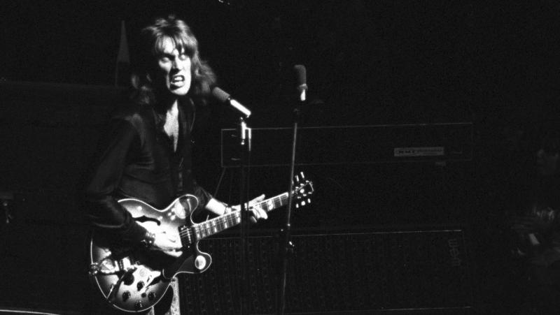Alvin Lee performing with Ten Years After in the early 1970s.