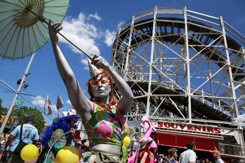 The Mermaid Parade at Coney Island draws hundreds of thousands of revelers each June. After sustaining significant damage during Superstorm Sandy, the nonprofit that runs the parade was almost unable to host this year's event, scheduled for Saturday.