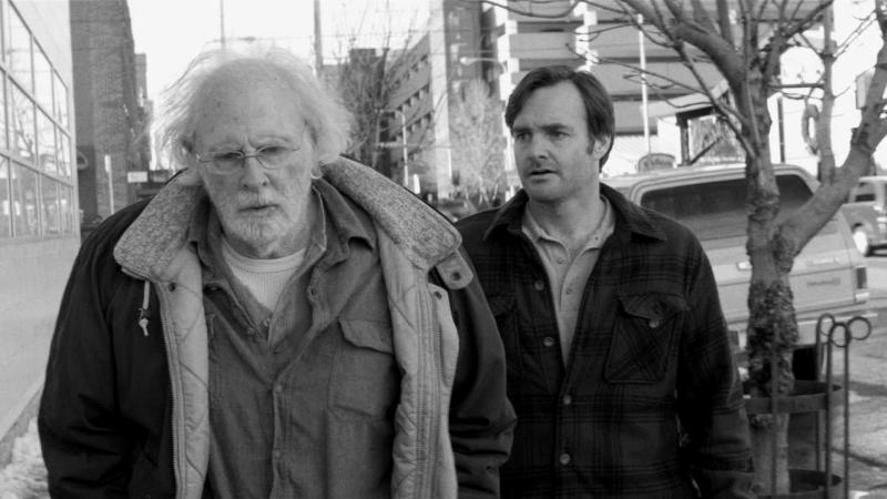 After receiving a dubious letter, the aging Woody (Bruce Dern) heads off on a quest to collect  $1 million, dragging his son David (Will Forte) along with him.