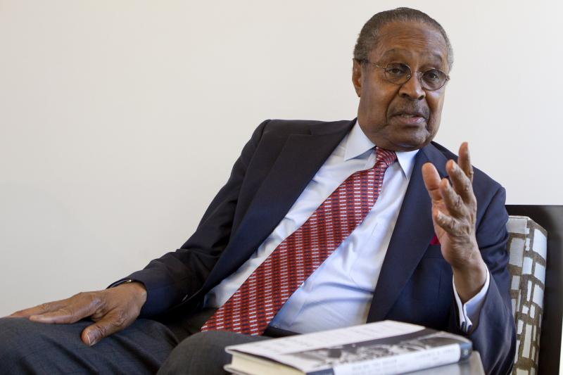 Clarence B. Jones this month in Palo Alto, Calif. As Martin Luther King Jr.'s attorney and adviser, Jones contributed to many of King's speeches, including his famous speech at the March on Washington in 1963.