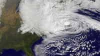 Hurricane Sandy churns off the Atlantic coast on Oct. 29. NOAA officials are forecasting seven to 11 hurricanes, compared with about six in a typical season.