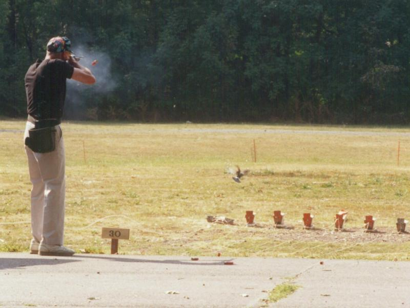A sportsman participates in a pigeon shoot in Pennsylvania in 2009. Animal-rights activists want to ban the tradition in the state.