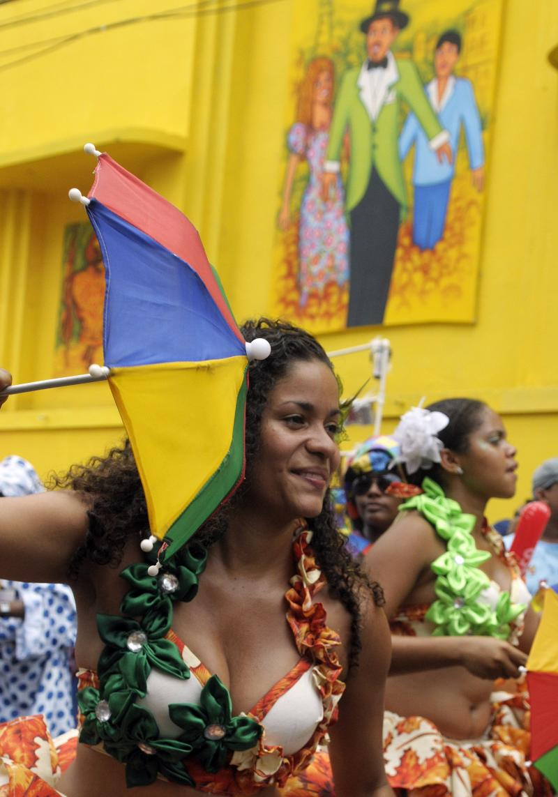 Colorful umbrellas long ago replaced concealed knives during frevo parades.