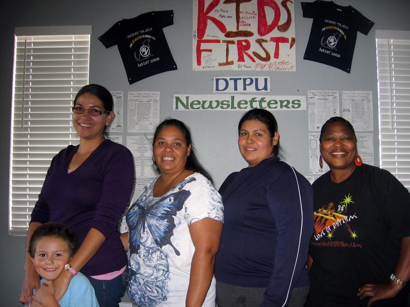 Parents leading a revolt to take over an elementary school say it has failed their children. From left: Cynthia Ramirez with her son, Mason; Doreen Diaz; Bartola DelVillar; and Kathy Duncan.