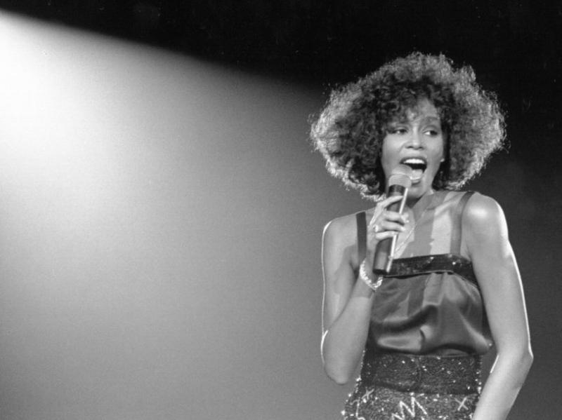 Whitney Houston performs in 1988.