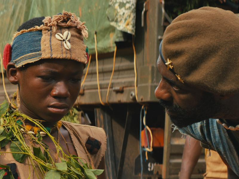 Idris Elba and Abraham Attah in the Netflix original film Beasts of No Nation.