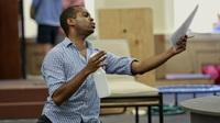 Daniel Breaker, a Juilliard-trained actor who's earned praise for roles as varied as Donkey in Shrek the Musical and the protagonist Youth in Passing Strange, gets to play a king in a new musical adaptation of Shakespeare's Love's Labour's Lost.
