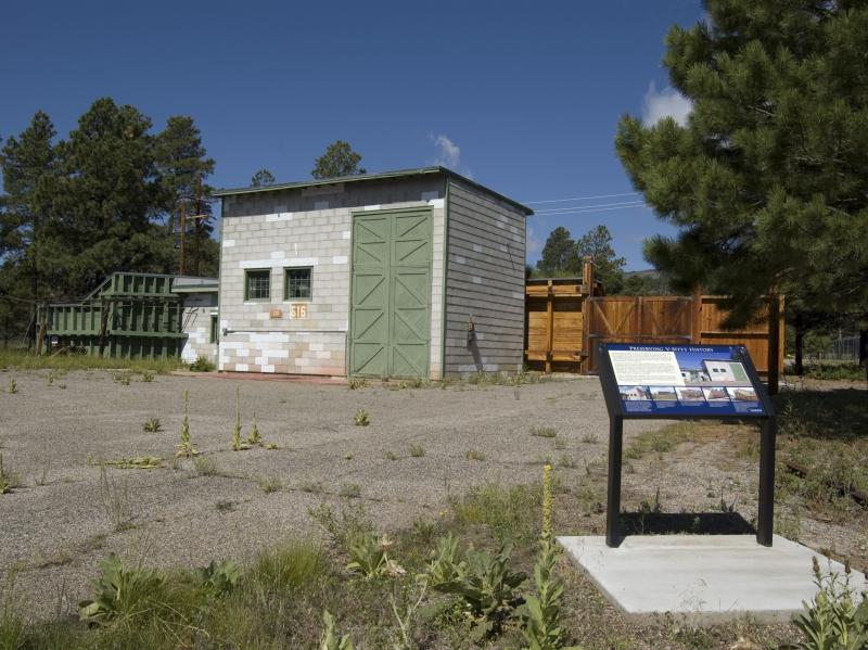 """The restored building where the """"Gadget"""" atomic bomb was assembled would be included in the Manhattan Project National Park. Gadget was the nickname given to the first nuclear bomb, tested at Trinity Site, N.M., in July 1945."""