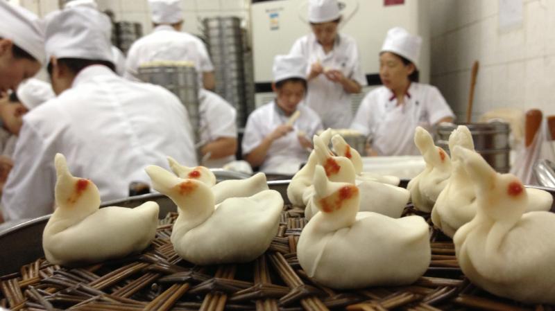 A Flock of Dumpling Ducklings: What's inside? Roasted Beijing duck, of course.