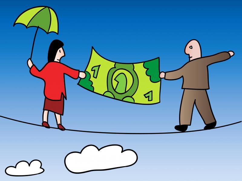 Peer-to-peer lending illustration