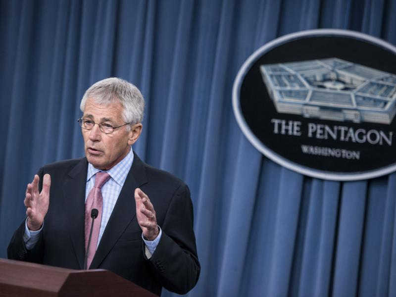 "The Pentagon extended military benefits to same-sex spouses this summer, but some states have been resisting. Defense Secretary Chuck Hagel called that resistance ""wrong"" on Thursday."