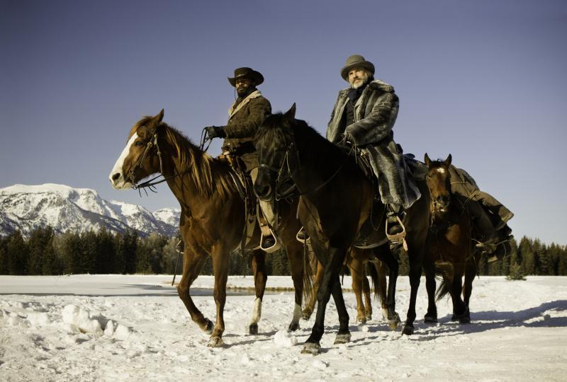 Christoph Waltz and Jamie Foxx star in Tarantino's new spaghetti western-inspired film, Django Unchained.