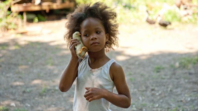Quvenzhane Wallis plays Hushpuppy in the film Beasts of the Southern Wild.