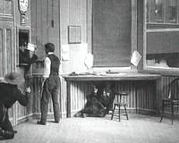 """Edwin S. Porter's The Great Train Robbery (1903) is a 12-minute film that employs one of the first known uses of the cinematic """"cut."""""""