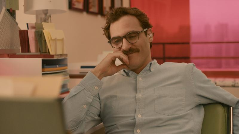 Joaquin Phoenix plays a man in love with an operating system in director Spike Jonze's latest film, Her.