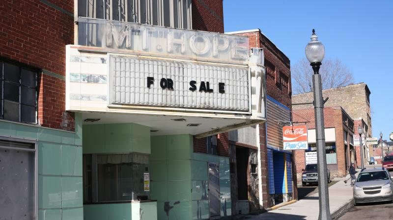 Mount Hope, W.Va., population 1,400, was once a thriving coal town. Today, many of the storefronts in its tiny downtown sit empty.