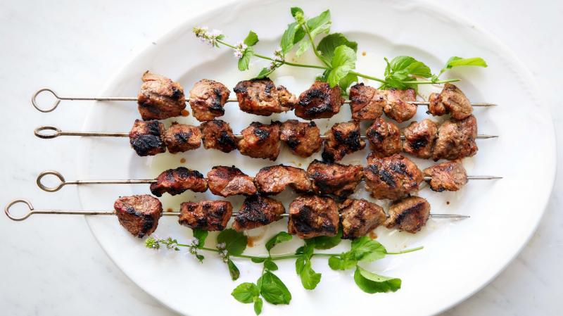 Punjabi Lamb Kebabs, like many tandoor dishes, can also be made on gas or charcoal grills.