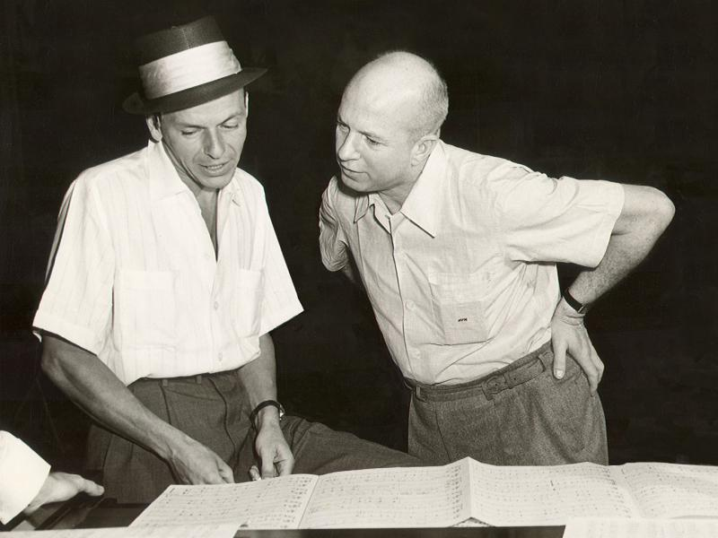 Jimmy Van Heusen with Frank Sinatra in the 1950s. Van Heusen wrote dozens of songs for the crooner and became Sinatra's close friend and confidant.