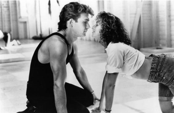 Patrick Swayze and Jennifer Grey in a scene from the 1987 movie Dirty Dancing.