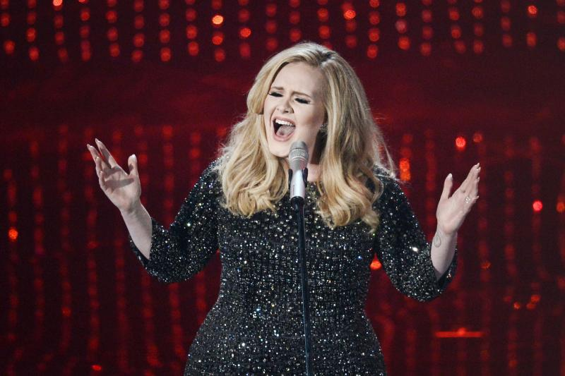 """Adele performs the theme song to """"Skyfall."""""""