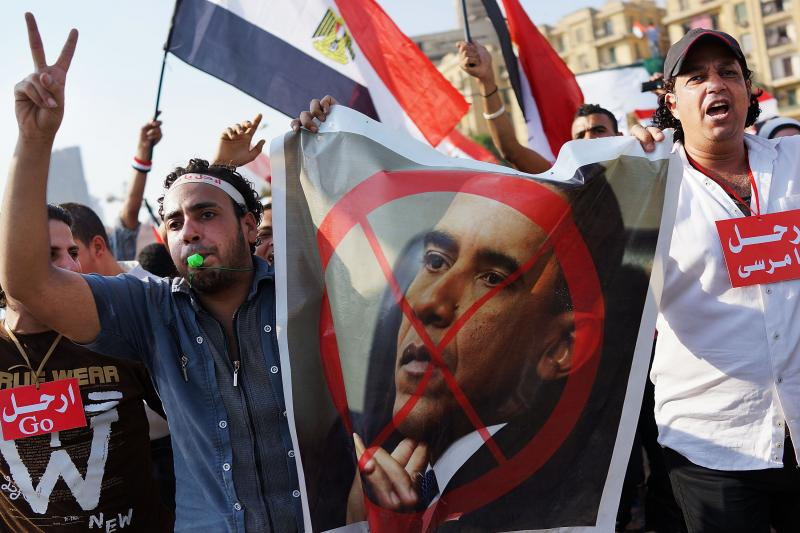 Egyptian protesters celebrate in Tahrir Square on Wednesday. The United States has managed to alienate just about every political actor in Egypt.