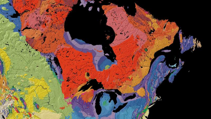 Water trapped for 15 billion years could hold ancient life 885 wfdd this map from the united states geological survey shows the age of bedrock in freerunsca Choice Image