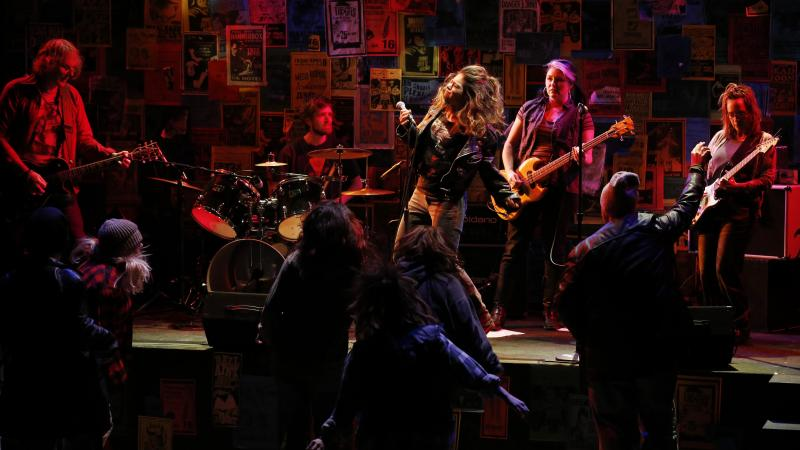 Ron Nine, Mitch Ebert, Eden Schwartz, Fiia McGann and Gretta Harley perform in These Streets, a new play based on a series of interviews with Seattle musicians.